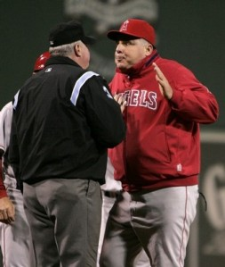 The Angels get so frustrated when they play the Red Sox, Mike Scioscia turns into a blowfish